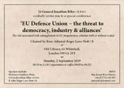 EU Defence Union, the threat to democracy, industry & alliances'